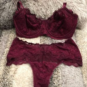 NWT Victoria's Secret unlined bra and panty